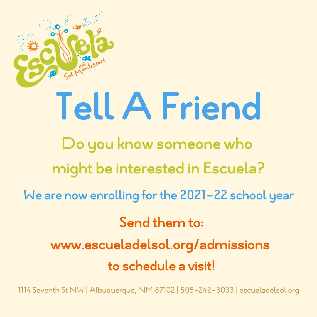 Tell A Friend About Escuela!